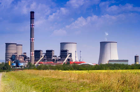 industrie: Power station in the rural Stock Photo