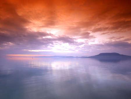 balaton: Sunset at Balaton ( Hungary)