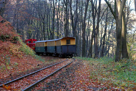 Dinkey line in the mountains on a fall day Stock Photo - 2105102