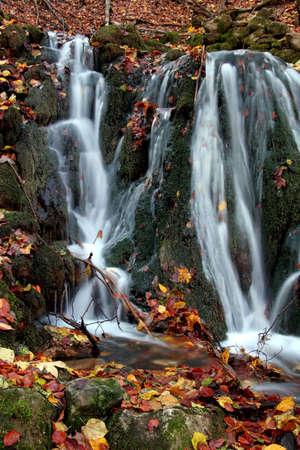 Waterfall in autumn Stock Photo - 2103743