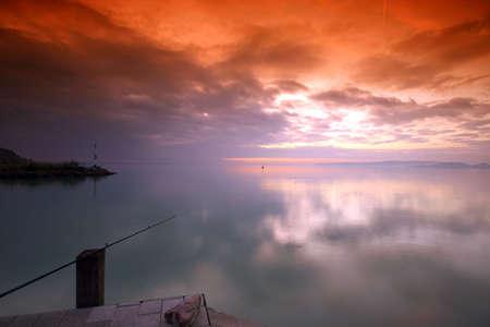 Sunset lake. This phote make in Hungary. Sunset whit Balaton