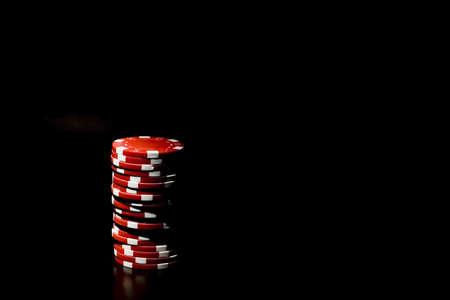 wagers: Casino chips and card