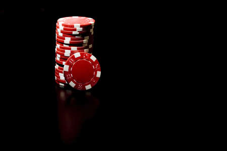 Casino chips and card Stock Photo - 2433425