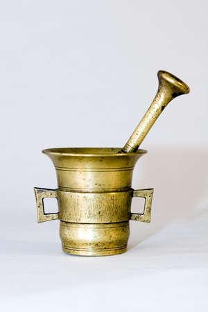 morter: Brass mortar and pestle