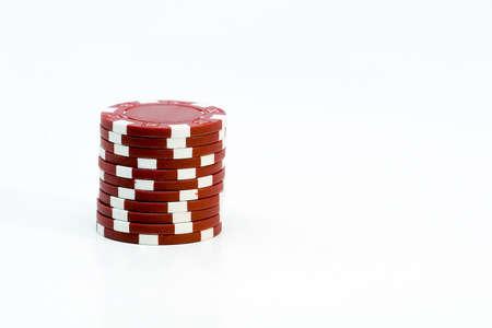 aligning: Poker chips
