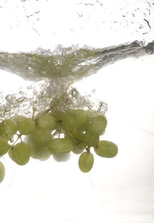 Splashing grape photo