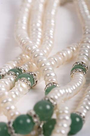 satiny: pearls necklace  Stock Photo