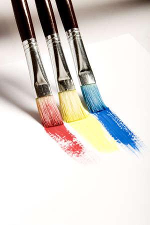 Brushes painting rainbow photo
