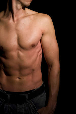descamisados: Masculino muscular Foto de archivo