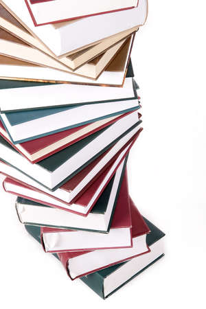 encyclopedias: Books on white background Stock Photo