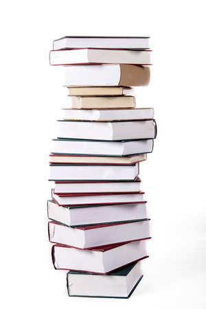 Books on white background Stock Photo - 3554582