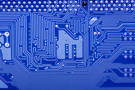 deep blu background with motherboards electronic circuit photo