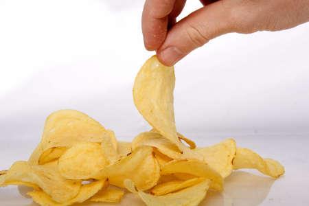 grasas saturadas: Mont�n de papas fritas