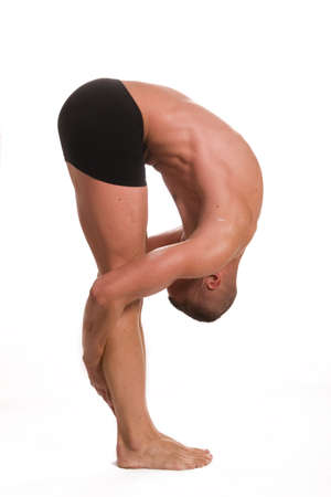 young sportsman stretching Stock Photo - 4524513