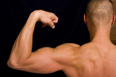 Muscular male photo