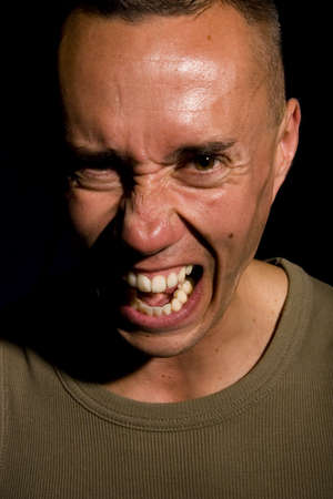 agression: Man screaming Stock Photo