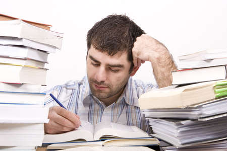 studying man Stock Photo - 4760121