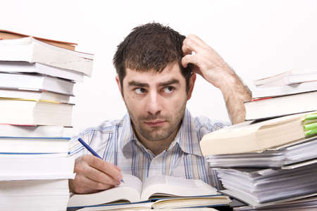 studying man Stock Photo - 4760126