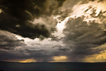 clime: storm over the lake Balaton