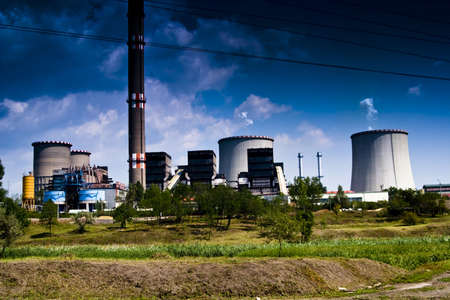 heat radiation: coal power plant
