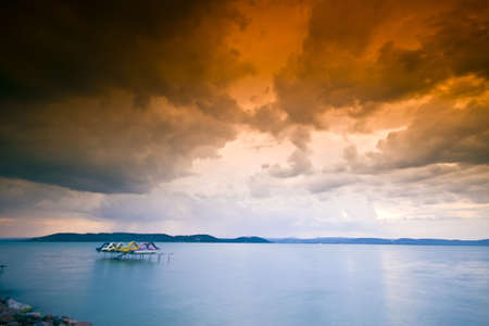 storm over the lake Balaton Stock Photo - 5223134