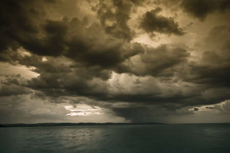 storm over the lake Balaton Stock Photo - 5223091