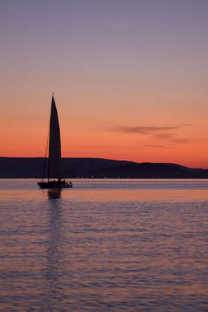 sailing and sunset Stock Photo - 5644477