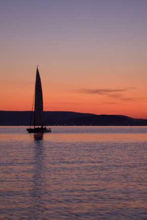 sailing and sunset Stock Photo - 5644477