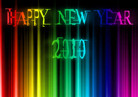 Rainbow background-happy new year Stock Photo - 6057593