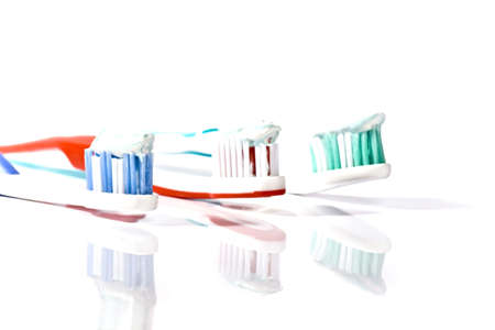 Close up of a toothbrush photo