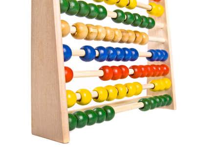 Abacus on isolated white background photo