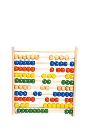 computations: Abacus on isolated white background