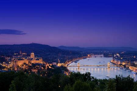 Night lights in Budapest-Hungary Stock Photo - 9196608