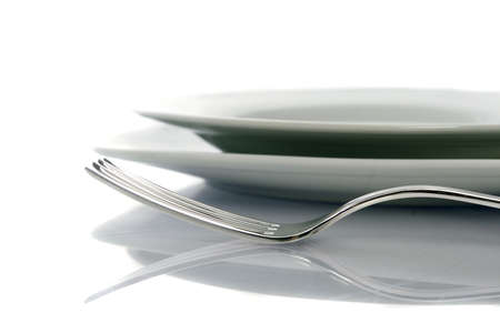 Fork and Knife and Plate Stock Photo - 6237261