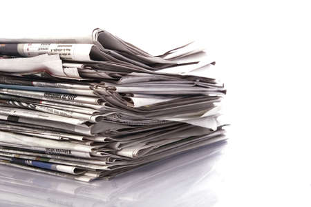 stack of paper: newspapers Stock Photo