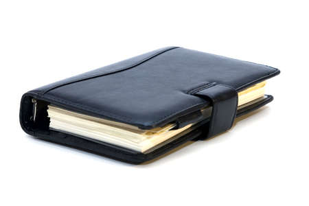 Black personal diary isolated on white Stock Photo - 5898274