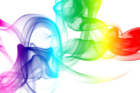notional: Colorful Rainbow Smoke Stock Photo