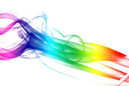 Colorful Rainbow Smoke photo