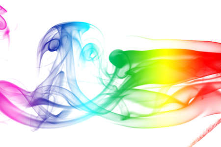 Colorful Rainbow Smoke photo