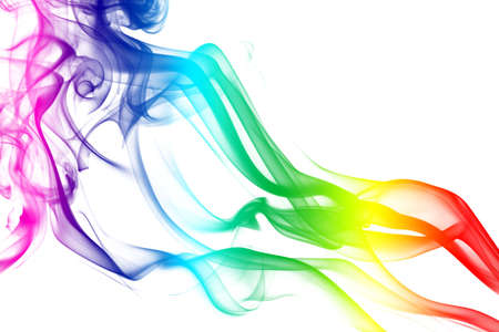 notional: Colorful Rainbow Smoke Stock Photo
