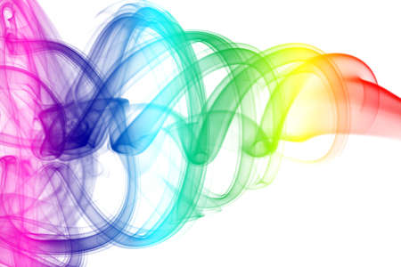 color�: Colorful Rainbow fum�e  Banque d'images