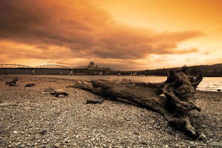 sunset danube Stock Photo - 9262598
