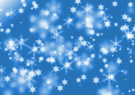 Background with defocused snowflakes photo