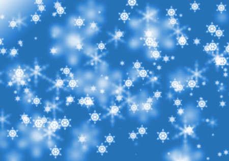 Background with defocused snowflakes photo