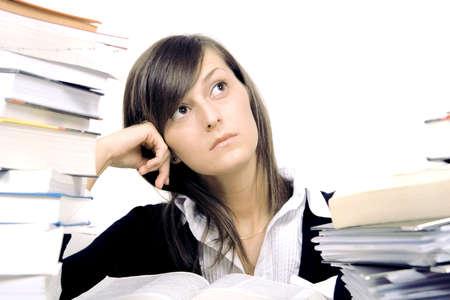 studying girl Stock Photo - 6056249
