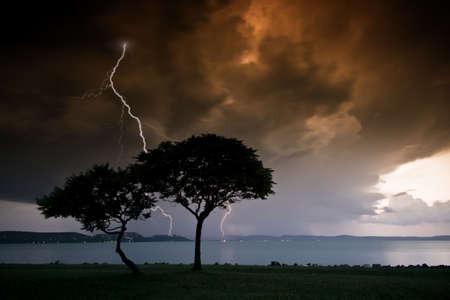 lightning storm: Big thunderbolt