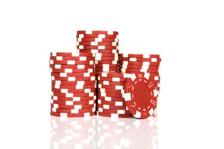 red poker chips Stock Photo - 6322071