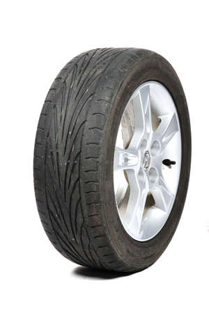 worn old tyre photo