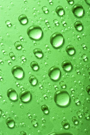Water drops on metallic surface photo