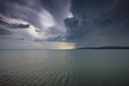 storm over the lake Balaton-Hungary  photo
